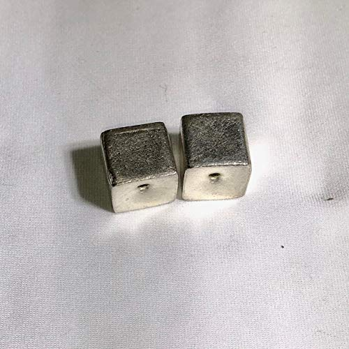 (Thai Hill Tribe 1 5 Gram Cube Fine Silver 11.5x12.5mm Bead for Jewelry Making)