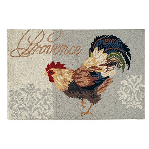 C&F Home Provence Rooster Hooked Rug, 2' x 3' , Blue