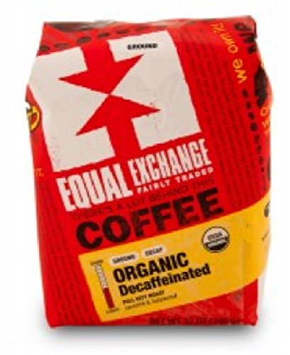 Equal Exchange Organic Coffee, Decaf, Drip, 12 Ounces 1 This decaf has all the richness of our Organic Breakfast Blend, a full-bodied coffee with a sweet nutty and vanilla flavor. Full City Roast FAIR TRADE. KOSHER.
