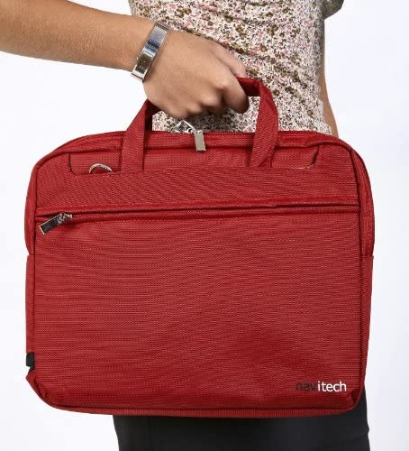 Navitech Red 14-Inch Laptop//Notebook//Ultrabook Case//Bag Compatible with The Toshiba Tecra Z40-A