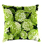 Classic Polyester Decorative Outdoor Throw Pillow, 22'' sq. x 8'' - Forest Hydrangea