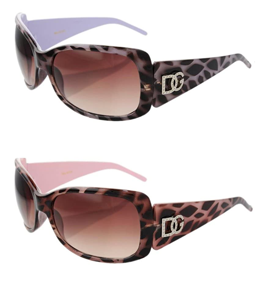 8e1bdfdaa090 Top1: 2 DG Eyewear 1 Pink & 1 Purple Animal Print Sunglasses JE533