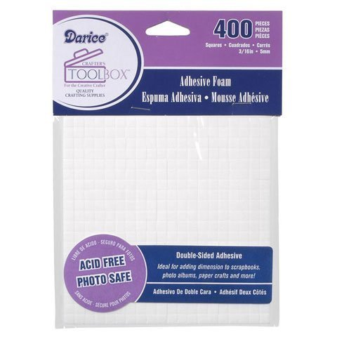 Darice Sticky Sheet Foam - Bulk Buy: Darice DIY Crafts Double Sided Foam Sticky Squares 400 pieces (6-Pack) 1206-02