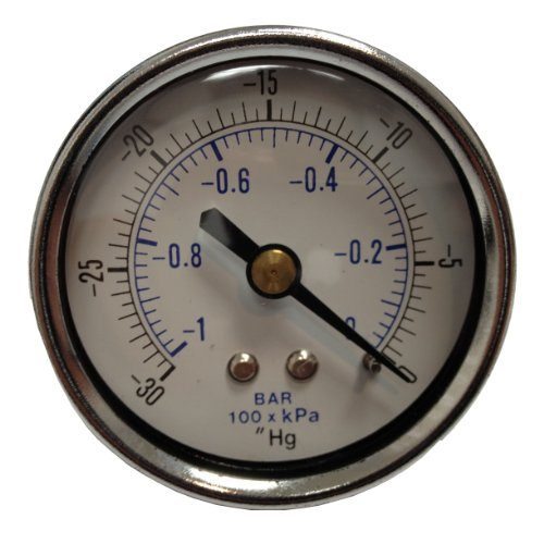 PneumaticPlus Vacuum Gauge for Air Compressor WOG Water, used for sale  Delivered anywhere in USA