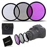 3 Piece High Definition 72mm Filter SET with Protective Case for Nikon AF-S DX NIKKOR 18-200mm f/3.5-5.6G ED VR II, Nikon AF-S NIKKOR 58mm f/1.4G, Nikon AF NIKKOR 24-85mm f/2.8-4D IF, Canon EF 35mm f/1.4L USM and all 72mm Thread Lenses and Cameras