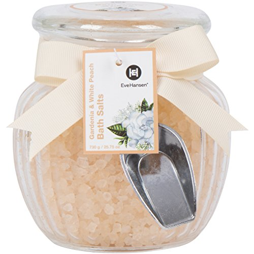 Large 25oz Spa Bath Salts in Beautiful Glass Jar - Best for a Relaxing & Soothing Bath Soak. Skin Nourishing Blend of Natural Sea Salts and Exotic Scents. Great for Gift