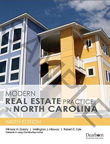 Modern Real Estate Practice in North Carolina, 9th Edition