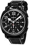 Anonimo Mens Military 43 MM Black Face Black Canvas/Leather Strap Chronograph Swiss Mechanical Watch AM110002003A01