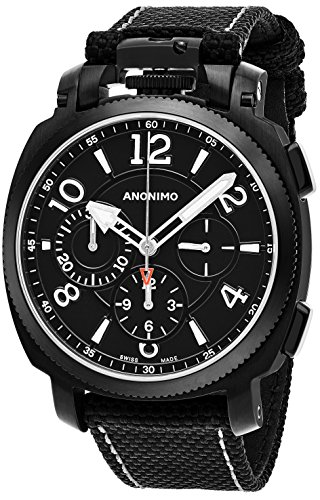 anonimo-mens-military-43-mm-black-face-black-canvas-leather-strap-chronograph-swiss-mechanical-watch