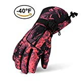 Ski Gloves, Lemonworld Snow Warm Gloves for Men Women Kids, Windproof& Waterproof Breathable Gloves for Winter Outdoor Cycling Snowboard Sports