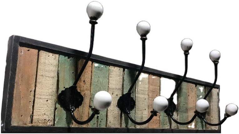 Beihaoer madera, estilo r/ústico, 4 ganchos Perchero de pared