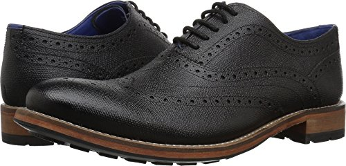 Ted Baker Men's Guri 9 Oxford, Black, 8 M US (Print Ted Dress Baker)