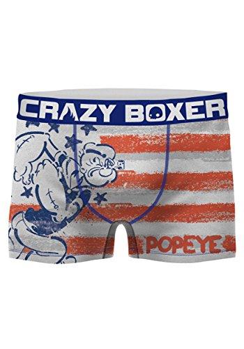 Kalan LP Crazy Boxers Men's Popeye American Flag Boxer Brief Small by Kalan LP