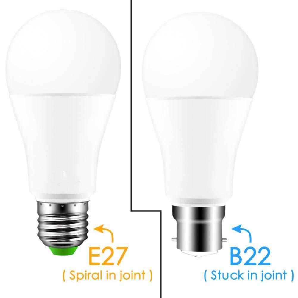 MMYYY Smart Light Bulb Wireless Bluetooth 4.0 Smart Bulb Home Lighting Lamp 10W E27 Magic RGB +W Led Change Color Light Bulb Dimmable by MMYYY