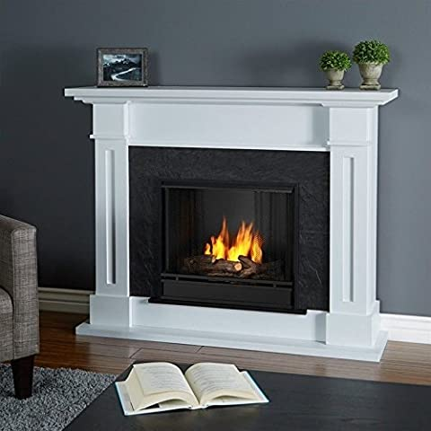 Real Flame Kipling Gel Fireplace White - Fireplace Frame
