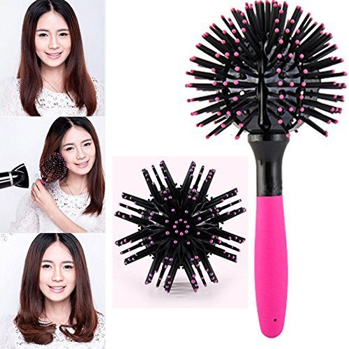 ReNext 3D Spherical Comb Japan Lucky Bomb Curl Full Round Hot Curling Styling Brush for Girls and Women