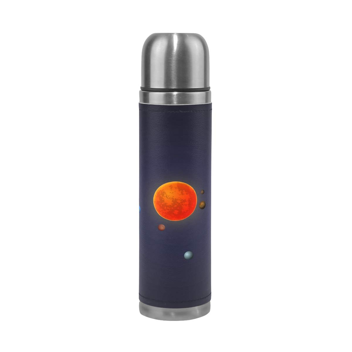 imobaby Elegant Solar System Leak Proof Water Bottle Insulated Double Vacuum Stainless Steel Thermos 500ML