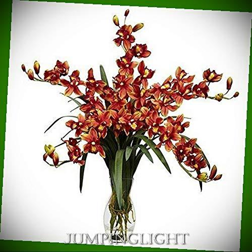 JumpingLight 1184-BG Cymbidium Orchid Silk Flower Arrangement Artificial Flowers Wedding Party Centerpieces Arrangements Bouquets -