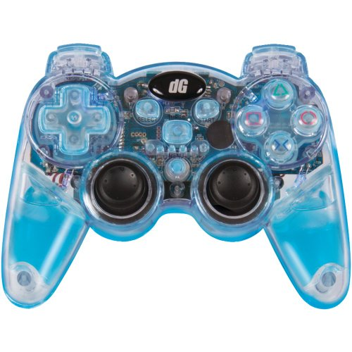 dreamGEAR PS3 Lava Glow Wireless Controller with Rumble (blue) (Controller Lava Glow)