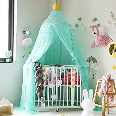 Decha Children Princess Bed Canopy Bedroom Decorative Dome Crown Top Mosquito Net
