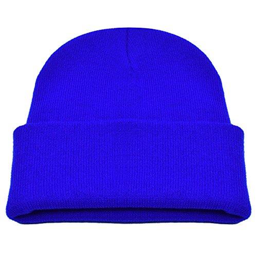 PZLE Men's Knit Hat Winter Caps for Men Blue Stocking Cap Flap Hats Royal Blue