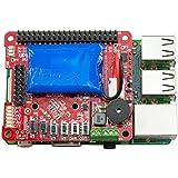 UPS PIco HV3.0A Stack Assembled - 無停電電源装置 & 開発ツール for Raspberry Pi 3 - 450mAhバッテリ付き - 組み立て済みスペシャル版 - ターミナルブロックPCB付属