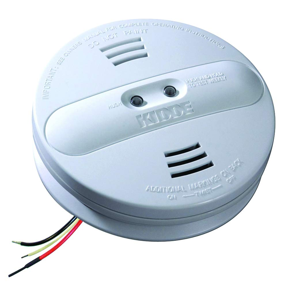 Kidde 21007915-N Dual Sensor AC Hardwire Interconnect Smoke Alarm, White