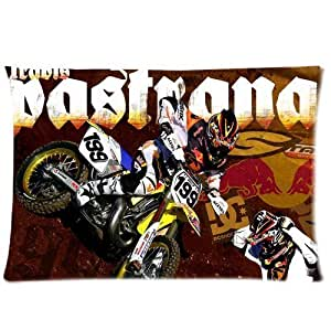 Travis Pastrana Motocross FreeStyle Custom Pillowcase Cover Two Side Picture Size 16x24 Inch by icecream design