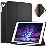 #1: Ztotop Newest iPad 9.7 Inch 2018 Case with Pencil Holder - Lightweight Soft TPU Back Cover and Trifold Stand with Auto Sleep/Wake, Protective for Apple iPad 6th Generation(A1893/A1954), Black