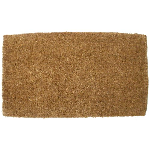 J & M Home Fashions Plain Vycome Coco Doormat, 26-Inch by