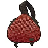 Camera bag cross sling bag red triangle carry case for dslr Sony, Canon Rebel Powershot, Nikon Coolpix,Kodak,Olympus,Pentax