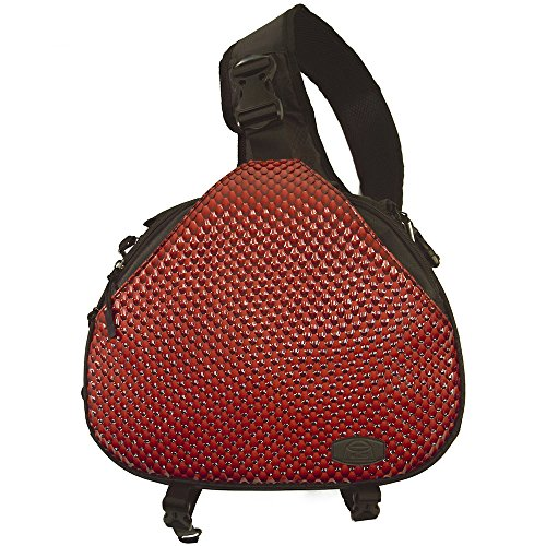 Camera bag cross sling bag red triangle carry case for dslr Sony, Canon Rebel Powershot, Nikon Coolpix,Kodak,Olympus,Pentax by Alles