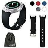 EEEKit Silicone Watch Band Bracelet Strap Replacement for Samsung Gear S2 (SM-R720 Version ONLY) Smartwatch