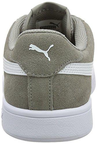 16 White Smash Unisex Skin Puma V2 puma Sneaker Elephant Erwachsene Grau zqHn14v