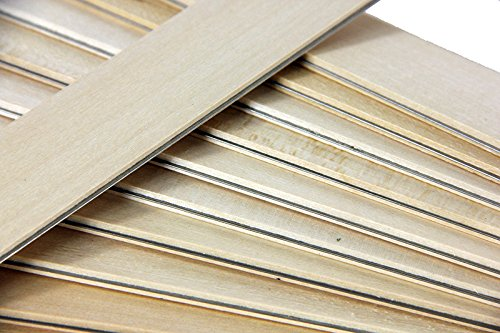 Club Pack of 25 Natural Colored Wooden Straight Edges with Metal Strips - 12
