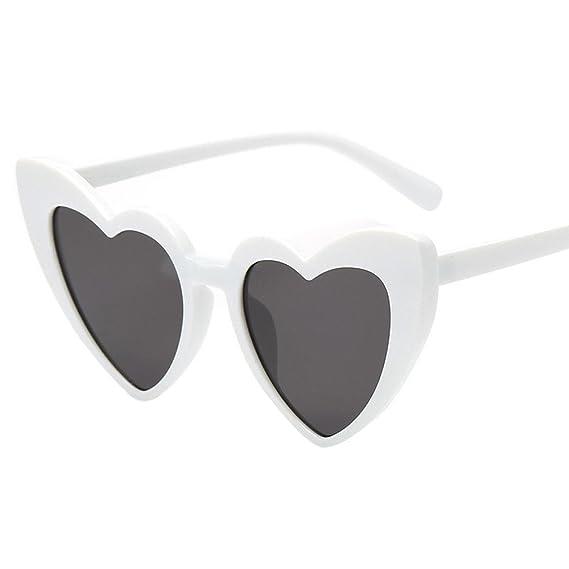 Gafas de Sol Mujer, JiaMeng Moda Retro en Forma de corazón ...