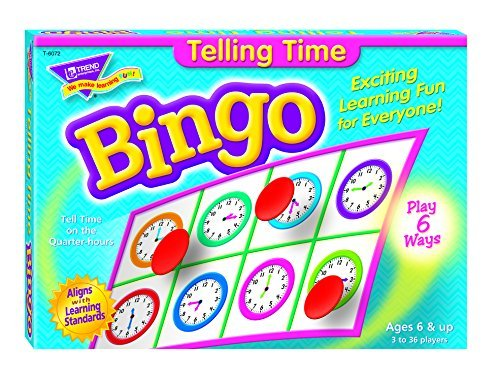 Fun to Know 36-Piece 333 g Learning Telling the Time Bingo Games, White by Fun to Know by Fun to Know