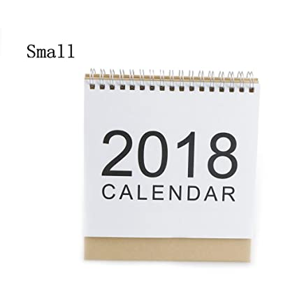 tuantuan 1 pcs small 2018 calendar simple design stand up desktop paper calendar monthly flip desk