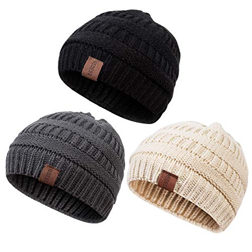 REDESS Baby Kids Winter Warm Fleece Lined Hats, Infant Toddler Children Beanie Knit Cap Girls Boys