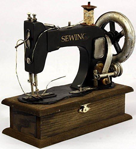 Estilo antiguo de máquina de coser modelo con almacenamiento: Amazon.es: Hogar