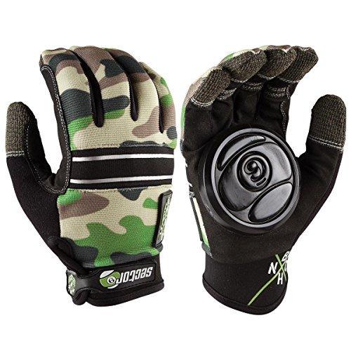 Sector 9 BHNC Slide Gloves Camo L/XL (Sector Nine Skate Gloves)