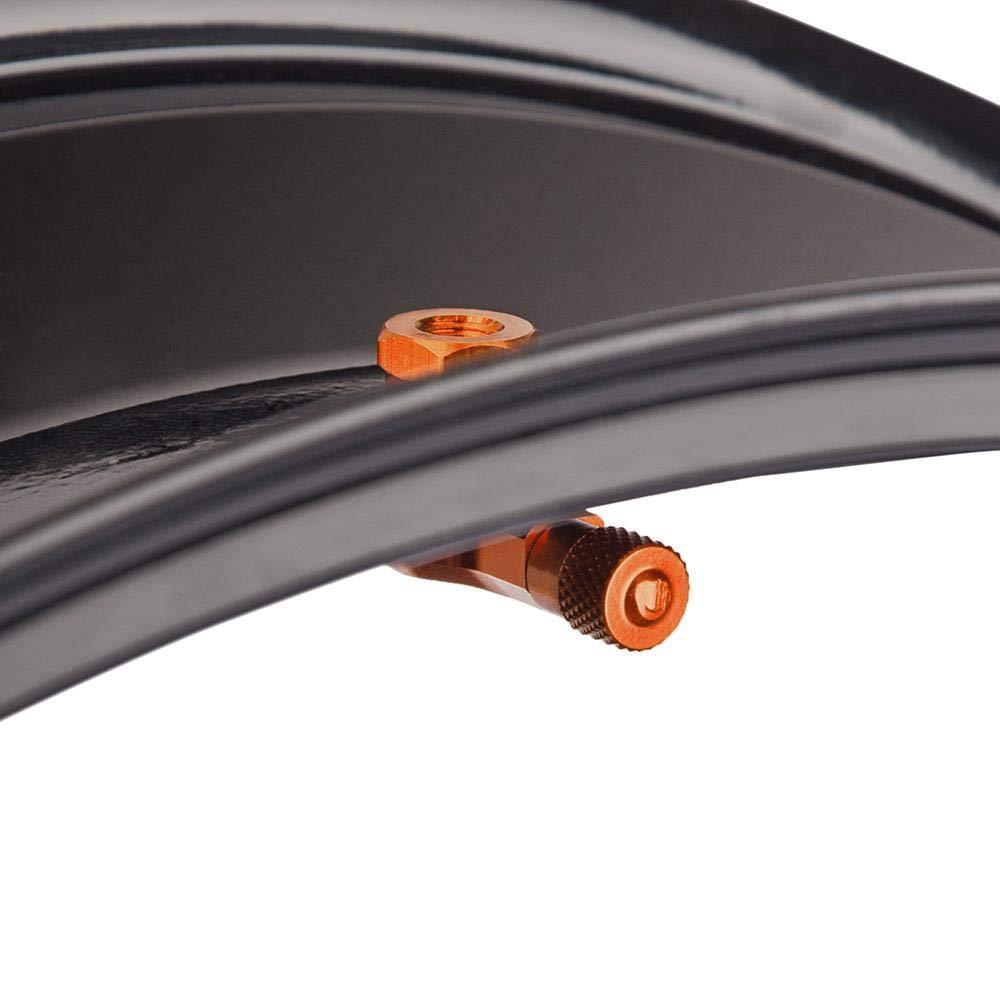 schwarz Aluminium gefr/äst Ventile Winkelventile 1 Paar Eckventile Motorradventile 11,3 mm
