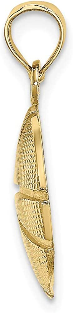 Jewels By Lux 10K Yellow Gold Basketball Textured 2D Pendant