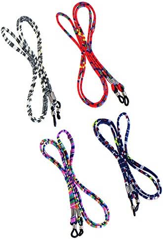 Hestya 4 Pieces Eyeglass Strap Eyeglass Chain Eyewear Cord Holder Lanyard Strap