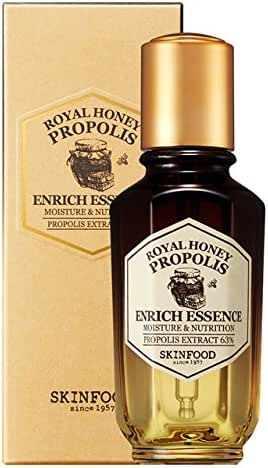SKIN FOOD Royal Honey Propolis Enrich Essence 1.69 fl.oz. (50ml) - 63% Black Bee Propolis & Royal Jelly Extract Contained Powerful Nourishing Facial Essence, Skin Moisturizing & Radiant