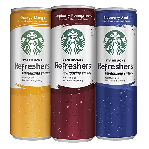 Starbucks Refreshers, 3 Flavor Difference Pack, 12 Pack, 12 oz Slim Cans