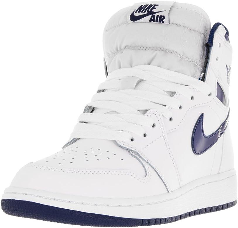 Nike Zapatillas de Baloncesto para Niños, Blanco (White/Midnight ...