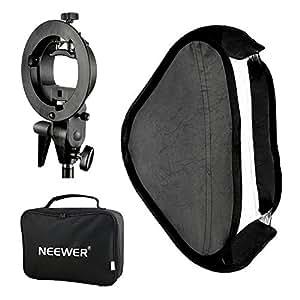 Neewer Estudio Multifuncional 32x32 Caja de Luz/80x80cm con S-tipo Flash Speedlite Montaje de Soporte y Estuche de Transporte para el Retrato o Fotografía del Producto