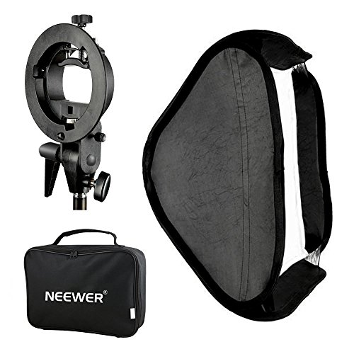 Neewer Photo Studio Multifunctional 32x32''/80x80cm Softbox with S-type Speedlite Flash Bracket Mount and Carrying Case for Portrait or Product Photography by Neewer