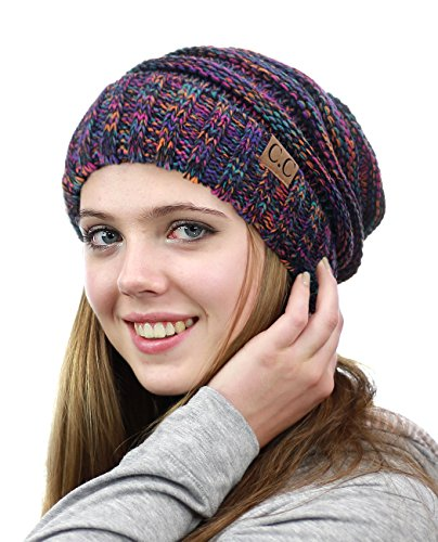 (NYFASHION101 Oversized Baggy Slouchy Thick Winter Beanie Hat, Tribal Mix)